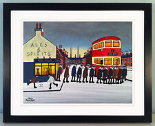 """JACK KAVANAGH """"GOING TO THE MATCH"""" LEEDS UNITED FRAMED PRINT"""