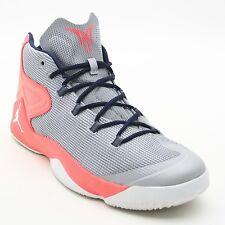 Nike Air Jordan Men's 13 Melo M12 Wolf Gray Hyper Orange Basketball Sneakers