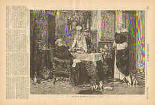 Vow Of Poverty, Excess & Luxury, The Good Things Of Life, 1879 Antique Print.