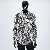 CELINE HOMME 970$ Classic Shirt In Animal Print Viscose