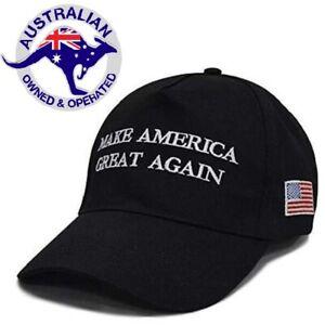 Trump Hat Make America Great Again MAGA 2020 Black Adjustable Cap Hat AUS SELLER