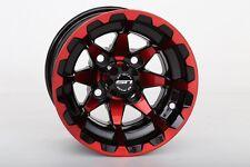 "Set of (4) 10"" STI HD6 Red Orange Blue Aluminum Golf Cart Car Rim Wheels"