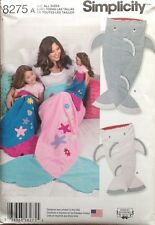 """Simplicity 8275 Mermaid & More!  Blanket  Child, Adult, 18"""" Doll"""