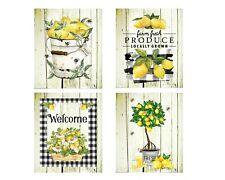 Set of 4 8x10 Lemon Tree Kitchen Wall Art Canvas Prints