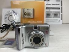 Canon PowerShot A550 Digital Camera - Silver 7.1mp 2AA Batteries Box+Manual