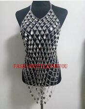 Fashion Style B233 Women Silver Chains Fish Scale Dressing Body Chains Jewelry