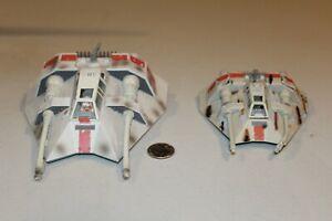 "2 Star Wars Snowspeeders ESB 5"" & 6"" long 2006 1996 Hoth ship micro machines"