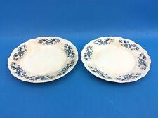 "Two Vintage Used Semi-Vitreous Buffalo Pottery Vassar 7.5"" Plates Dishes"