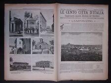 1895 CAMPOBASSO Le Cento Città d'Italia Sonzogno Editore riccamente illustrato