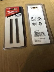 MAKITA D-07945 REVERSIBLE TCT 82MM PLANER BLADES TWIN PACK Bundle Of 2, BNIB