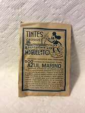 ANTIQUE SPANISH MICKEY MOUSE-RATON MIGUELITO CLOTHES DYE TINTES PAPER PACKAGE