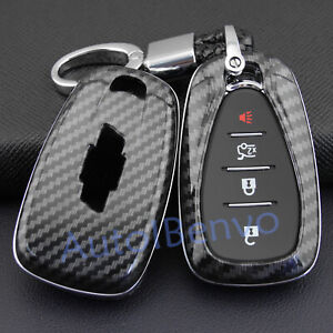 Carbon Fiber ABS Key Chain Protector For Chevrolet Equinox Camaro Malibu Cruze