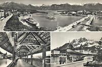 EARLY 1900's REAL PHOTO POSTCARD - Kapellbrücke Bridge River Reuss in Luzern