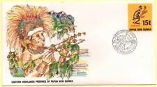 Sobre Primer Día. Papua Nueva Guinea.  Eastern Highlands 30-09-1987
