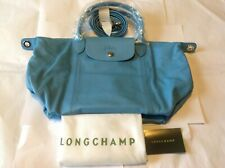 New LongChamp Le Pliage Cuir  Top-Handle S Leather (Ice Blue)