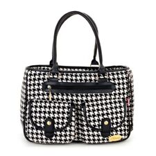 Black Coarse Grain Pet Dogs Carrier Bag Soft Sided Tote Small Puppy Dogs Bag