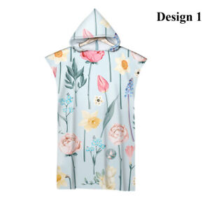 Watercolor Plum Blossom Rose Flower Floral Hooded Poncho Towel Pool Beach Surf