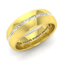 Men's Wedding Ring With Certified VS Diamond In Solid 18k Yellow Gold-0.56 Cttw