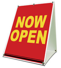"""Now Open Sidewalk A Frame 18""""x24"""" Outdoor Vinyl Grand Opening Retail Sign"""