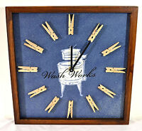 Wash Works Wall Clock