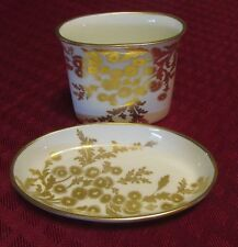 Rare Vintage HAMMERSLEY Golden Tansy Individual butter dish & Toothpick dish EUC