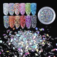 1 Box Rhombus Nail Flakies Glitter Nail Art Sequins Flakes Paillette