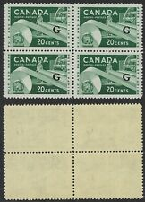 Scott O45, 20c Official Paper Resources Issue, G overprint, block of 4, VF-NH