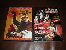 LOT 3 DVD FILMS HORREUR : FURIE DES VAMPIRES + CLUB DES MONSTRES + CIRQUE VAMPIR