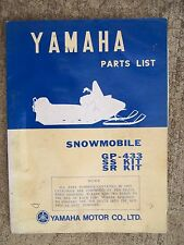 **1971 Yamaha GP-433 SS KIT SR KIT Snowmobile Parts List MORE SNO-MO IN STORE  V