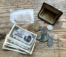 LOT US Fractional POSTAGE Currency JAPANESE GOVERNMENT Foreign COINS Old Purse +