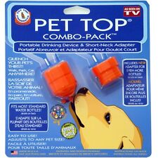 Pet Top Combo Pack  Portable Drinking  Short Neck Adapter