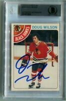 BLACKHAWKS DOUG WILSON signed autographed 1978-79 OPC ROOKIE CARD RC BECKETT