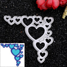 Lace Hearts Dies Metal Cutting Stencil For Scrapbooking Paper Cards Gift Decor