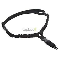 Tactical 1 One Single Point Bungee Rifle Gun Sling w/ QD Buckle HK Hook BK