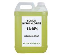 SODIUM HYPOCHLORITE 14/15%   10 LITRE (2x 5L) Liquid Chlorine   Swimming Pool