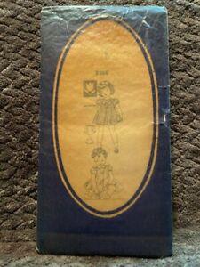 Vintage 3668 Child/Girl's Dress 12 Piece Pattern Sz 1-1940s Unprinted Used