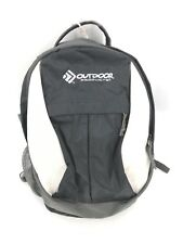 Outdoor Products Backpack Bag Mens Black White Padded Strap Pack Hiking Gym