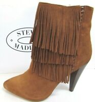 Steve Madden Size 8.5 Brown Leather Ankle Boots New Womens Shoes