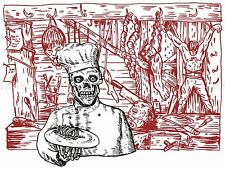 PAINTING SKELETON CANNIBAL CHEF BODY PARTS HORROR POSTER PRINT BMP10479