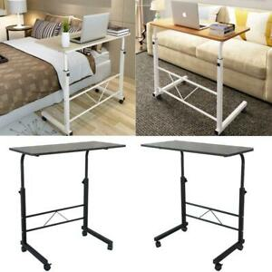 Portable/Rolling Desk Adjustable Laptop Notebook Rolling Table Stand Overbed