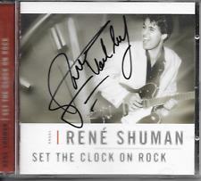 RENE SHUMAN - Set the clock on rock CD Album 13TR (SIGNED!!) 2001 Holland
