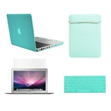 "4in1 Hot BLUE Rubberized Case for New Macbook PRO 15"" A1398 +Key Cover+ LCD +Bag"