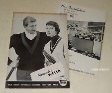 Revue 1956 Nouvelles WELLA N°1 Produits & Accessoires pour les cheveux Vintage