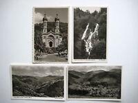 TODTNAU Schwarzwald AK Lot 4 x Postkarte ca. 50er Jahre Ansichtskarten