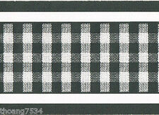 Small Black and White Gingham Plaid Check Country Wall paper Border Rare