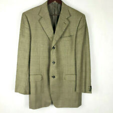Vintage 2000 Canali Saks Fifth Avenue Cashmere Suit Blazer Made in Italy 52L LRG