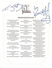 KT TUNSTALL SIGNED BLACK HORSE AND THE CHERRY TREE LYRIC SHEET