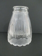 3 Ribbed Clear Frosted Flower Glass Fan/Light Fixture/Sconce Globes Shades