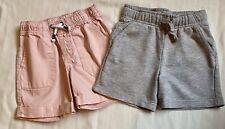 Infant Toddler Cat & Jack,(Lot Of 2)Girl Shorts Elastic Waist Gray/Pink Size 2T
