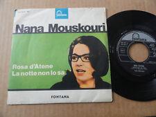 """DISQUE 45T DE NANA MOUSKOURI  """" LA NOTTE NON LO SA """" PRESSAGE ITALIEN"""
